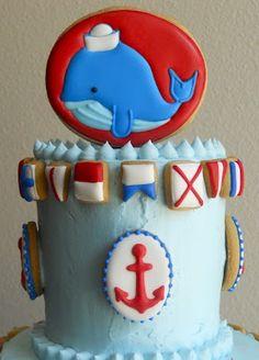 Cake Idea  Nautical Baby Shower Theme
