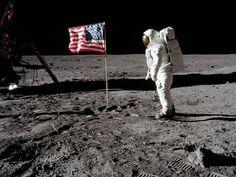 Watch the moon landing on TV.