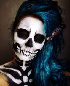 You Like It My...: How To Paint Sugar Skull Makeup for Halloween by janiferwolf
