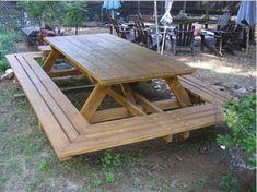 Оригинальные вещи, сделанные из дерева (23 фото) Стол для пикника для большой компании