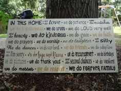 In This Home Hand Painted Wooden Sign by PurePaintedSigns on Etsy, $125.00