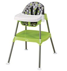 Evenflo Convertible High Chair prepares your child for independent feeding. Keeping your infants new high chair clean is simple to do by applying warm water and mild soap to the seat pad. Evenflo high chair is designed for infants and toddlers. Toddler High Chair, Best Baby High Chair, Best High Chairs, Round Sofa Chair, Dining Chair Set, Portable High Chairs, Toddler Kitchen, Patterned Chair, Baby Supplies