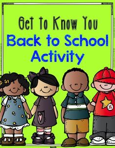 Back to School: Get to Know You Activity