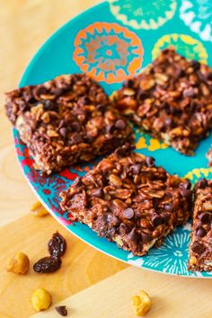 No Bake Chewy Fudge Granola Bars