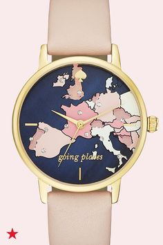 Give the perfect gift to show mom how much you care. This Mother's Day mom will fall in love with this beautiful kate spade new york watch featuring a crystal-accented map on the dial. Click to shop at Macy's