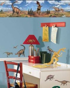 Made in USA removable dinosaur wall decals. Create your own fantastic dinosaur wall mural. Peel-and-Stick Dinosaur Wall Decor - T-Rex wall decal. Awesome realistic wall stickers for dinosaur - themed kids rooms. Peel and remove dinosaur decals. Dinosaur Wall Decals, Flower Wall Decals, Name Wall Decals, Removable Wall Decals, Boys Wall Stickers, Mirror Wall Stickers, Wallpaper Stickers, Boys Dinosaur Bedroom, Wall Seating