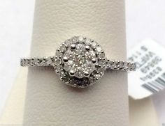 Flower Double Halo Vintage Antique Diamond Engagement Promise Ring (0.35ct. tw)- RG331285770126