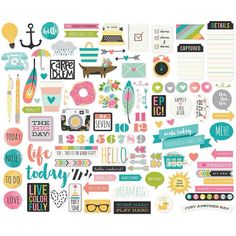 New Carpe Diem A5 Planner Bits & Pieces Cardstock Die-Cuts by Simple…