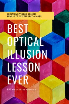 Best Optical illusion art lesson for teachers & students Lesson plans, 15 minutes of private videos, Cool Optical Illusions, Art Optical, Elementary Art Lesson Plans, Art Rubric, Math Art, Illusion Art, Teaching Art, Teaching Ideas, Middle School