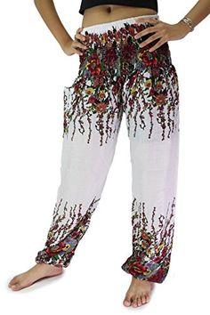 Bangkokpants Women's Hippie Pants Flowers Design White Us Size 0-14 Bangkokpants http://www.amazon.com/dp/B00Z1BK02G/ref=cm_sw_r_pi_dp_yspTwb16BF944