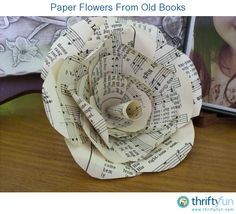 Great idea for music party - use sheet music instead of old books
