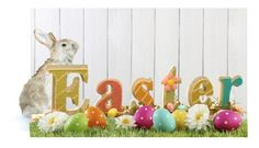 """""""Easter Contest"""" by cocoivy ❤ liked on Polyvore featuring interior, interiors, interior design, home, home decor, interior decorating and National Tree Company"""