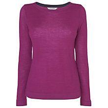 Buy L.K. Bennett Dilo Knitted Top, Red Violet Online at johnlewis.com
