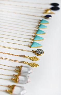 necklaces from Kei Jewelry, made by Keyla Viviana