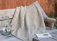 Ravelry: Snug seed stitch blanket throw pattern by Beth Michon