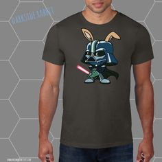 Darkside Bunny  funny star wars tee  star by meowmeowstuffstore