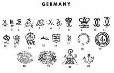 Pottery & Porcelain Marks - Germany - Pg. 11 of 19