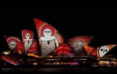 An indigenous Australian design is projected onto the sails of the Sydney Opera House during the opening night of the annual Vivid Sydney light festival in Sydney, Australia May REUTERS/Jason Reed - Sydney New South Wales, Naidoc Week, Water People, Light Music, Sydney Australia, First Nations, Art And Architecture, Installation Art, Opera House