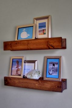 Barn Beam Ledges from Ana White's website.  If you have never been to Ana's site you MUST go.  She has free diy plans for lots of furniture and projects.  LOVE HER! Such an inspiration.