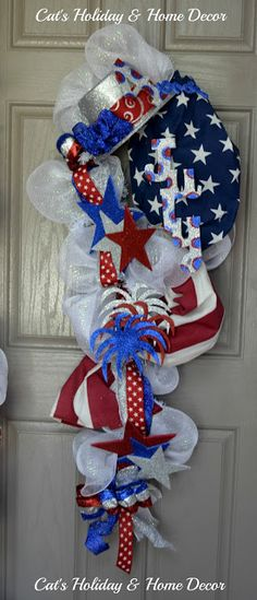 Patriotic Door Decor ideas, cute