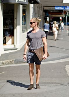 The man's summer uniform seems to be getting an upgrade in Sydney, i.e. less thongs.
