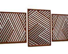 MetalDiorama & WoodArt by MetalDioramaWoodArt on Etsy Wood Wall Decor, Wood Wall Art, Geometric Wall, Modern Wall Art, Bedroom Wall, Living Room Decor, Etsy Seller, Creative, Handmade Gifts