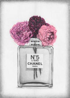 Image of Vase Chanel Coco Chanel Wallpaper, Chanel Wallpapers, Chanel Wall Art, Chanel Decor, Pop Art Wallpaper, Fashion Wallpaper, Perfume Bottle Tattoo, Perfume Bottles, Mode Poster