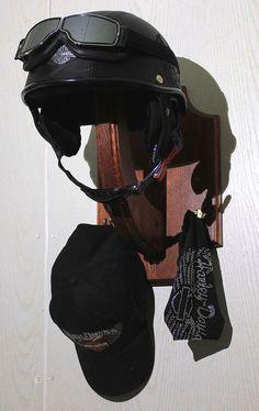 Motorcycle Helmet Rack Wall Mounted Hockey Helmet by BearLodge