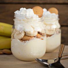No Bake Banana Cream Cheesecake With Jell-o Banana Cream Instant Pudding Mix, Cream Cheese, Milk, Cool Whip, Bananas, Vanilla Wafers