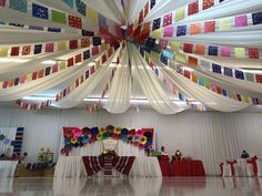 Mexican Birthday Parties, Mexican Fiesta Party, Fiesta Theme Party, Party Themes, Party Ideas, Mexican Quinceanera Dresses, Quinceanera Decorations, Quinceanera Party, Mexican Party Decorations