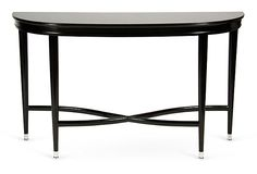Loft Demilune Console Table on OneKingsLane.com.  Like the style, not the finish or price.