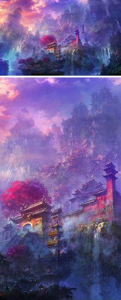 Find the best Japanese Art Wallpaper on GetWallpapers. We have background pictures for you! Fantasy Artwork, Fantasy Art Landscapes, Fantasy Landscape, Landscape Art, Japan Landscape, Fantasy Kunst, Anime Kunst, Scenery Wallpaper, Animes Wallpapers