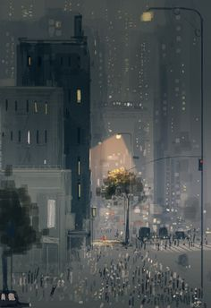 Strangers in the city by PascalCampion on DeviantArt