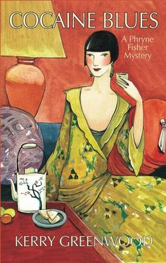 Cocaine Blues: A Phryne Fisher Mystery by Kerry Greenwood - Phryne decides it might be rather amusing to try her hand at being a lady detective in Melbourne, Australia. Almost immediately from the time she books into the Windsor Hotel, Phryne is embroiled in mystery: poisoned wives, cocaine smuggling rings, corrupt cops and communism until her adventure reaches its steamy end in the Turkish baths of Little Lonsdale Street. (Bilbary Town Library: Good for Readers, Good for Libraries)