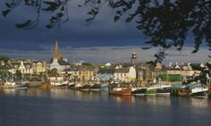 Stornoway Harbour, Isle of Lewis, Scotland. Spent many hours in this harbor, during trips to and from Orkney, Shetland, and Norway. Great people, great fish and chips.