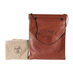 Authentic HERMES Aline All Leather Barenia fauve GM Shoulder Bag GHW Rare