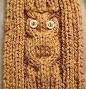 Ravelry: Owl Sitting-in-a-Tree Scarf pattern by KayL Designs free pattern