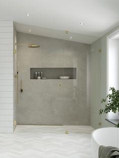 Finn den beste dusjløsningen til ditt bad Bathroom Design Luxury, Bathroom Inspiration, Sweet Home, Bathtub, Interior Design, House, Den, Modern, Standing Bath
