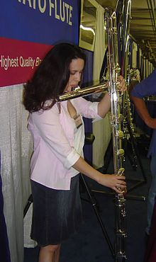Contrabass Flute, I've been a flautist a long time and never seen one of these before but it looks pretty badass!