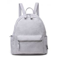 VENUS VS MARS GREY FAUX SUEDE BACKPACK found on Polyvore featuring bags…