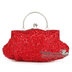 Red Beaded Clutch ★ ★