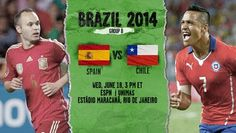 Spain vs Chile 2014 match, get full info about Spain vs Chile 2014 prediction, Spain vs Chile 2014 statistics, Spain vs Chile 2014 lineup