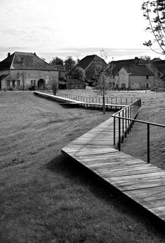 Park in Sermange by Agence Territoires