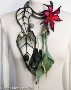 Great felted necklace