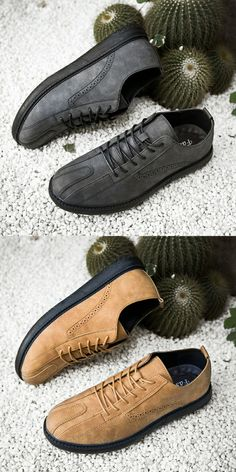 $29.98 <Click to buy> Leather Bullock Men Casual Brogue Shoes