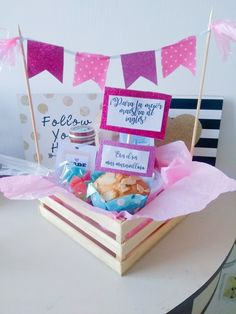 Birthday Box, Happy Birthday, Diy And Crafts, Crafts For Kids, Cute Presents, Surprise Box, Candy Bouquet, Diy Gifts For Boyfriend, Chocolate Gifts