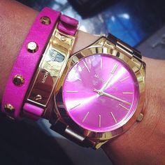 Michael Kors Mk5194 Women's Chronograph Pink Mother Of Pearl Dial Pink Ceramic…