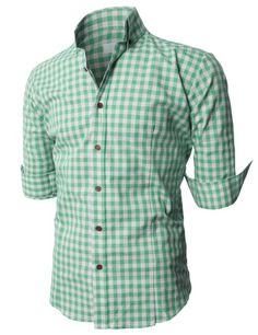 Mint green checked shirt with black bow tie for grooms and grooms ...