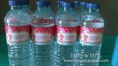 botellas de agua con etiquetas personalizada para celebraciones