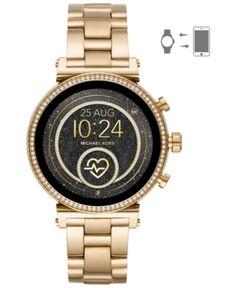 2df182a7f4aa Michael Kors Access Women s Sofie Heart Rate Gold-Tone Stainless Steel  Bracelet Touchscreen Smart Watch